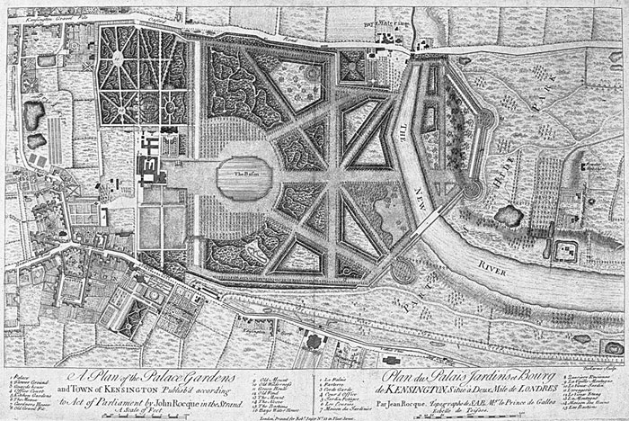John Rocque's Plan of Kensington Gardens as a Baroque Park
