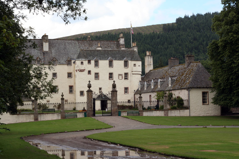 Courtyard, Traquair House Garden
