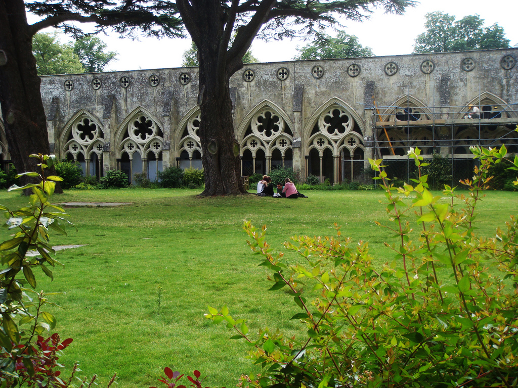 Salisbury Cathedral Cloister Garden                         jojo-bean