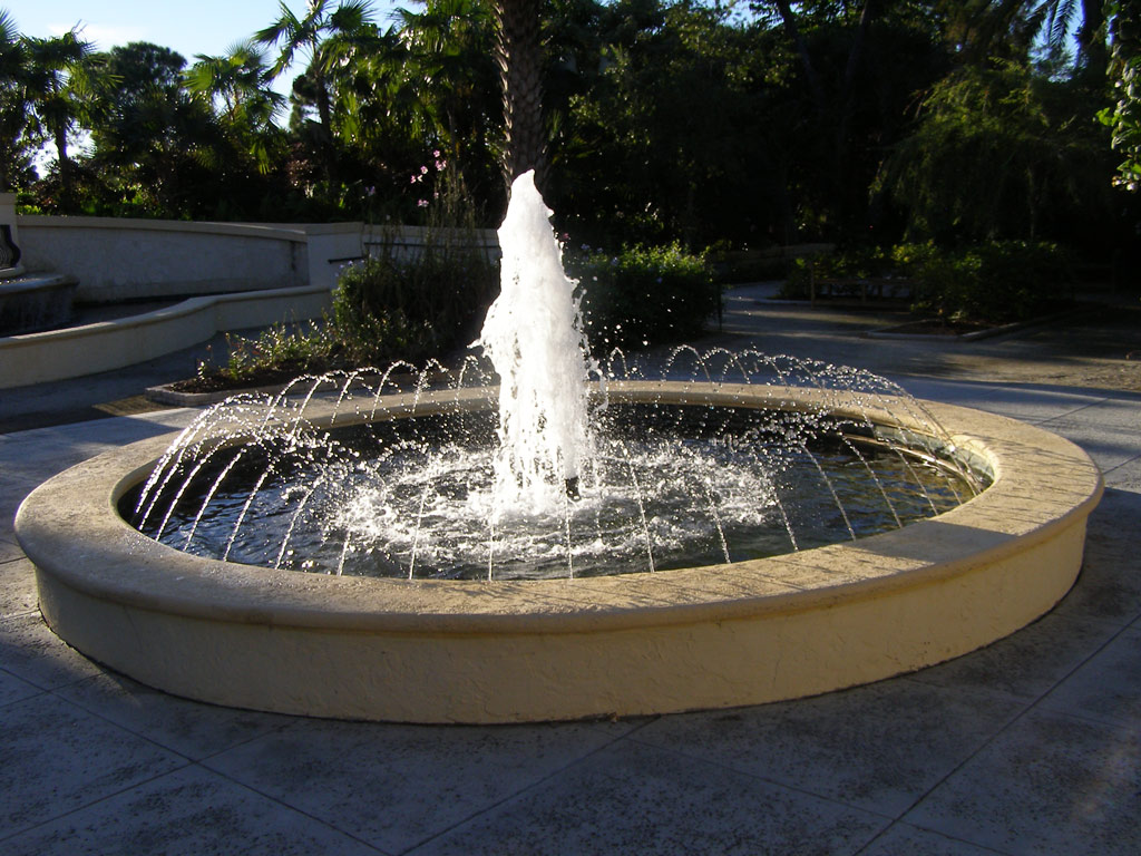 Fountain, American Orchid Society Botanical Garden
